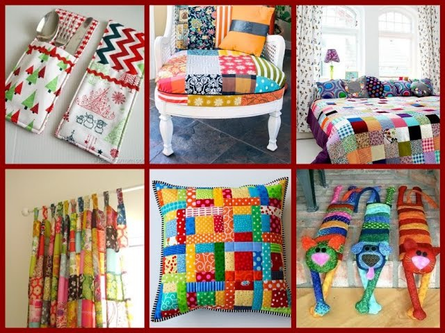 Top 30 DIY Patchwork Ideas Room Decor From Recycled Materials