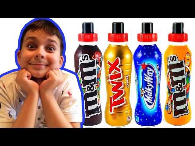 ЖИДКИЙ ТВИКС, МИЛКИ ВЭЙ И ЭМЭНДЭМС - ЧТО ВКУСНЕЕ Twix Shake, Mm's Choco Drink, Milky Way Choco Milk