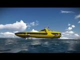 Концепт катера на подводных крыльях Kometa 120M