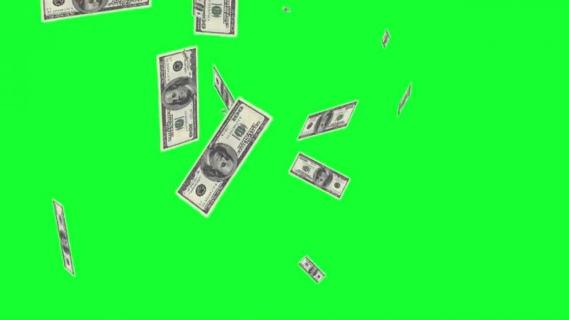 Деньги Часть 2 (Хромакей) Зеленый фон.Футаж