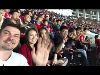 Видео-селфи с открытия китайской суперлиги по футболу!