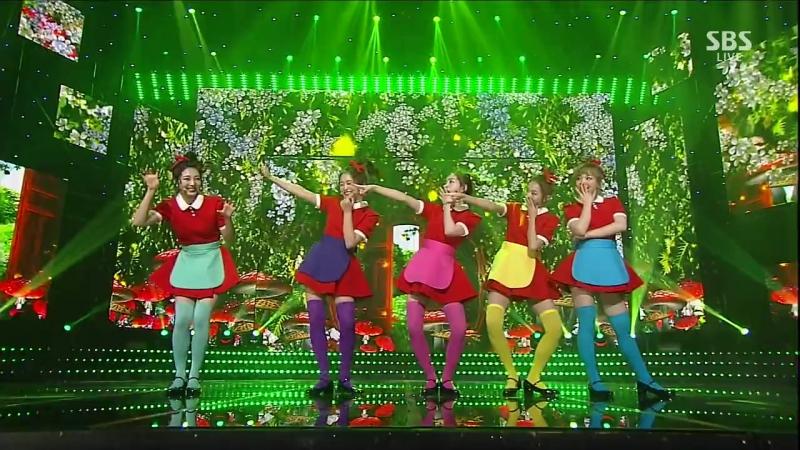 170716 UNIQUE – Huff n Puff @ SBS Inkigayo