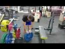 Виталий Бобырев - одновременный подъем одной рукой блинов 2*20 кг