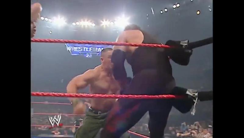 The Undertaker Batista vs. John Cena Shawn Michaels RAW 26.03.2007