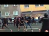 13.09.17 Viole Maribor & Widzew Lodz hooligans clash vs police before the match against Spartak Moscow tonight!