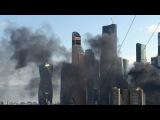 Вести.Ru Пожар у небоскреба Neva Towers в Москве горел мусор