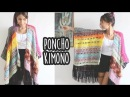 PONCHO KIMONO FÁCIL - CROCHÊ with english subtitles