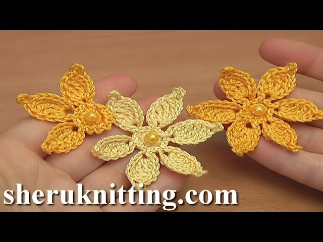 How to Make Crocheted Flower Tutorial 45 Irish Lace