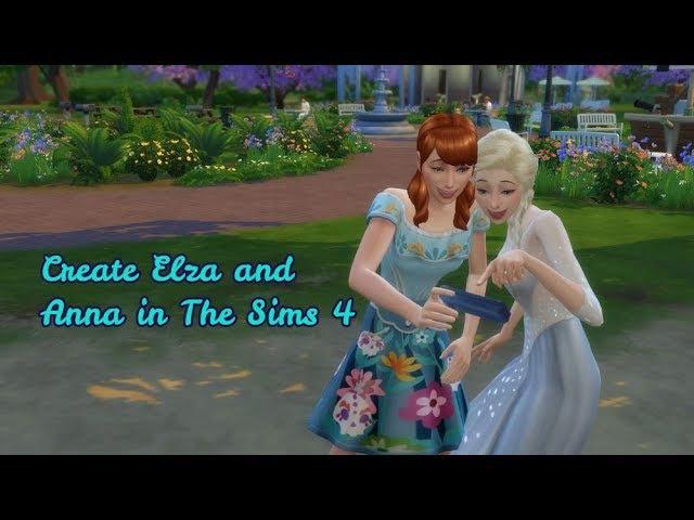 Create Elsa and Anna in The Sims 4 / Создаём Эльзу и Анну в The Sims 4