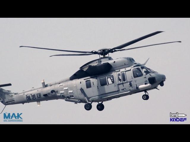 [BEMIL 현장취재] 서울 ADEX 2017 첫 공개 시범비행하는 수리온 상륙기동헬기