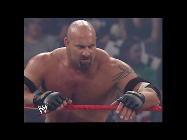 Goldberg Shawn Michaels vs. Ric Flair, Randy Orton Mark Henry : Raw, Oct. 13. 2003