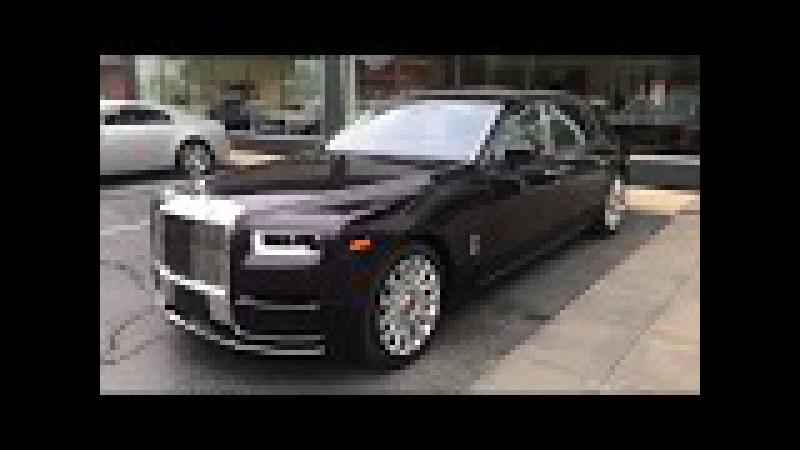 2018 Rolls Royce Phantom Ext Belladonna Purple Int Arctic White Purple