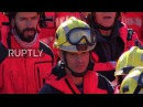 Spain Catalan firefighters form 'awareness ribbon' in protest against Article 155