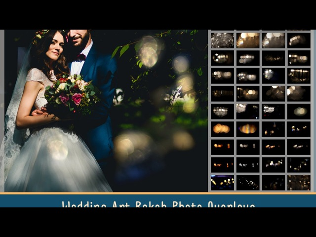 Wedding editing with Art Bokeh Overlays by MixPixBox