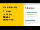 Статистика по дням, общая. Видео о настройке контекстной рекламы в Яндекс.Директе