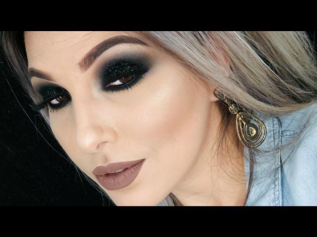 Maquiagem Glitter Preto (C Preparação de Pele)