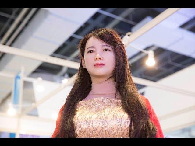 中国首次研发美女机器人,外形逼真会抛媚眼,这技术日本都惊叹!