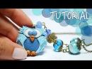 TUTORIAL Gufo in Pasta Polimerica DIY Polymer Clay Owl Lunatica Creazioni