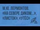 М.Ю. Лермонтов. «На севере диком…», «Листок», «Утес»