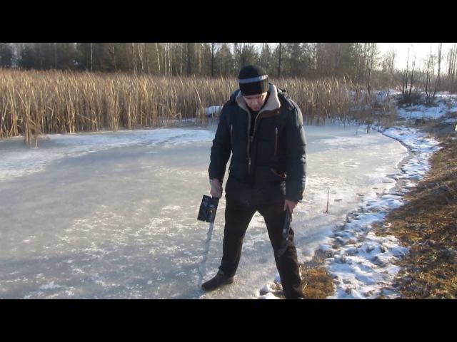 Зимний КОП первая МОНЕТА .Поиск с самодельным металлоискателем Пират