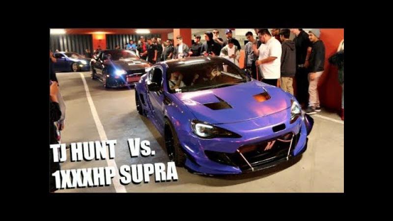 TJ HUNT Vs. 800HP AK47 SUPRA! Shutting Down HUGE LA Car Meet