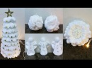 DIY: How to make 4 Christmas decorations with from remover pads eye make