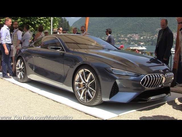 2018 BMW 8-Series Concept WORLD PREMIERE - Engine Start Sound, Moving Overview