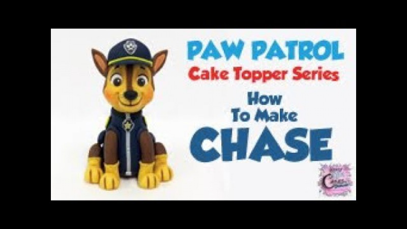 CHASE PAW PATROL Cake Topper! How To Make A Chase Cake Topper