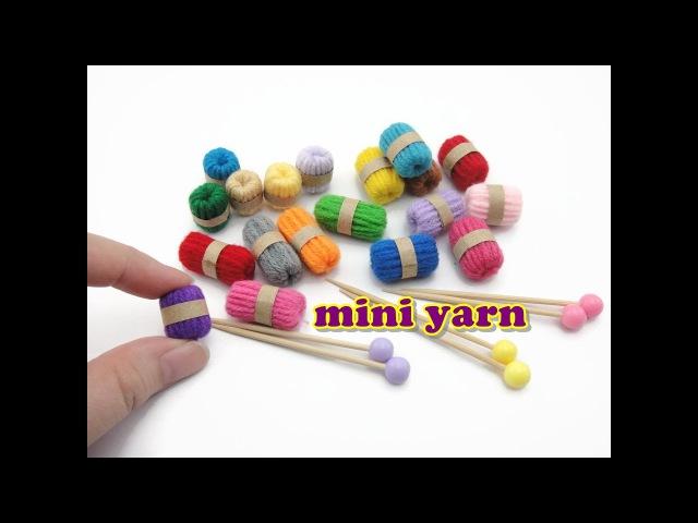 DIY Doll Accessories Mini Yarn Knitting Needles Easy