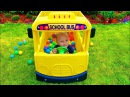 Wheels on the bus song Adventure Tayo little school bus Cute baby pretend play Funny story by Alisa