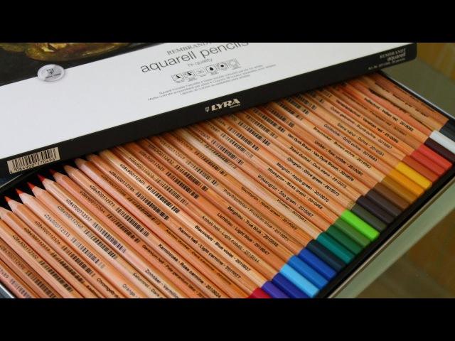 Обзор на Lyra Rembrandt Aquarell. Как раскрашивать акварельными карандашами