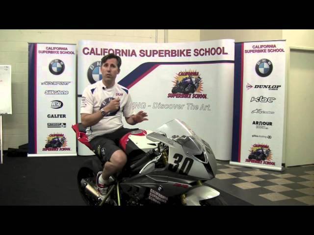 California Superbike School video on Wrist Position as it relates to body position