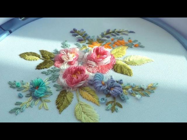 Embroidery Tea Rose || Вышивка Чайная Роза