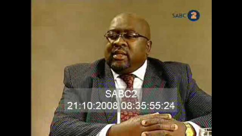 Chair Breaking in Live TV SABC Interview