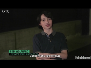 [RUS SUB] Stranger Things Stars Share Their Tips For Surviving The Upside Down ¦ Entertainment Weekly