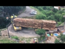 Logging truck crossing bridge like a boss [HD, 1280x720]