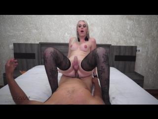 [TSRaw] Gabriela Rodrigues - Smoking Rod and Black Stockings Deep Bareback Shemale anal gay Трансы порно Tgirls