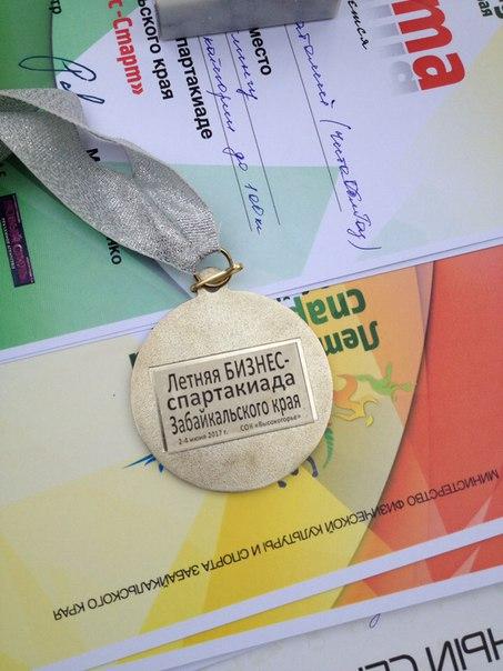 Вот такие симпатичные медали получили победители летней Бизнес спартак
