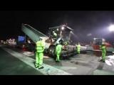 Замена покрытия южной взлетно-посадочной полосы аэропорта Хитроу в Лондоне