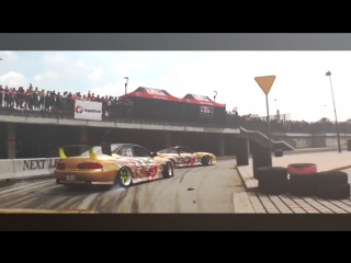 Drift Vine   Nissan Silvia s14 & Toyota Soarer Team DORIMINATI Crash at RACEISM 2016