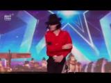 Двойник Майкла Джексона на шоу талантов (прикол)