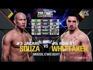 UFC FOX 24 Роналдо Соуза vs Роберт Уиттакер обзор боя