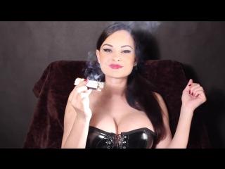 Abbie Cat smoking latex III