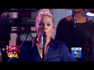 P!nk - What About Us - LIVE   16 октября  телешоу Good Morning America Нью-Йорк, США.