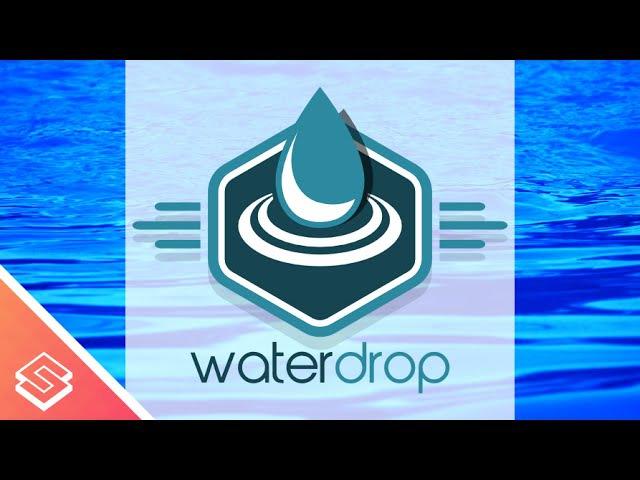 Inkscape for Beginners: Create a Flat Water Drop Logo