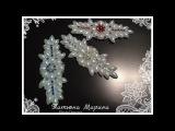 МК Красивое украшение на бантик своими рукамиBelo ornamento em arco com as m