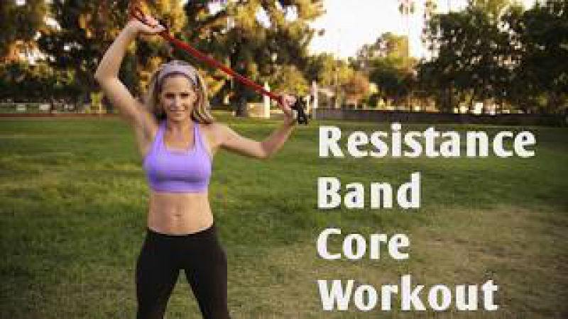 12 Minute Resistance Band Core Workout for Strong, Sculpted Abs