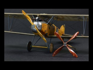How to paint wooden propeller with oil paints - The Great War