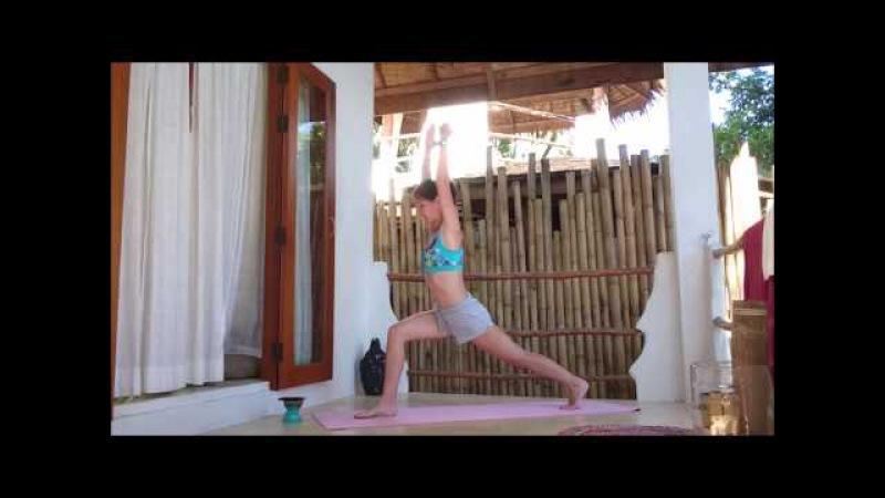 Йога разминка, комплекс вариант приветсвия солнцу