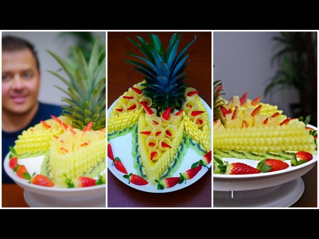 DELICIOUS FRUIT CENTER, How to make - J Pereira Art Carving Fruit and Vegetables